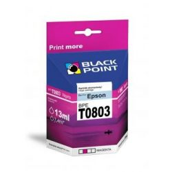 Black Point patron BPET0803 (Epson T0803) piros