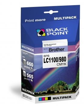 Image of Black Point multipack BPBLC1100_980CMYK (Brother LC1100/980) 4 színű
